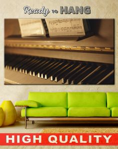 Piano Art on Canvas
