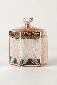 blushing mercury jars / anthropologie