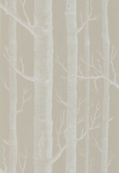 Bring nature inside to creat a calm feel to any space....cole tree wallpaper #livingroom
