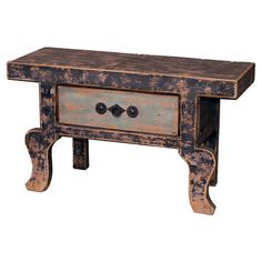 Whether accenting your living room conversation group or acting as a nightstand in your master suite, this distressed pine wood side table brings a rustic-ch...