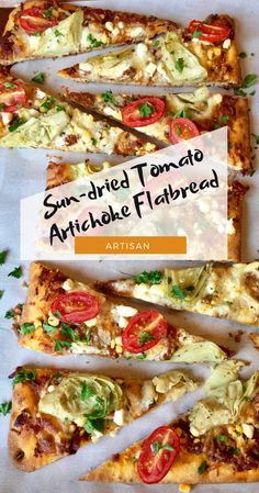 This Sun-Dried Tomato Artichoke Pizza was quite the treat! I just love making pizza. These pre-made pizza flatbread crusts make for the easiest quick and delicious dinner, lunch, or appetizer ever! Camping Snacks, Pizza Recipes, Healthy Recipes, Easy Recipes, Snack Recipes, New Years Eve Snacks, Artichoke Pizza, Healthy Superbowl Snacks, Pizza
