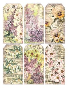 Springtime flowers + ephemera ********************************************** Lilac & Lavender - #free #printables #scrapbooking #memory #crafts #decoupage #graphics #labels #tags #cards #flowers #spring - tå√