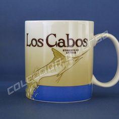 MEXICO - Los Cabos - Starbucks Mug 16 Oz. - Collector Series - Whit SKU #Starbucks