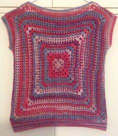 Two granny square top.. Love it!