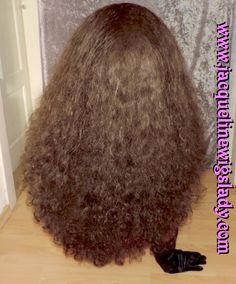 dark brown very thick Big Hair wig