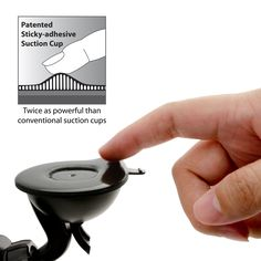 Patented super sticky suction cup, twice as powerful than normal suction cups. A great gift for him, your husband, or boyfriend.