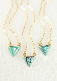 Akau necklace - turquoise necklace, turquoise gold necklace, boho jewelry, gold necklace, hawaii jewelry, layering necklace,ke aloha jewelry