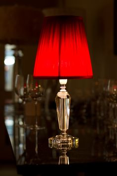 The Cordless Capiz Lamp Adding Ambience In A Bar Cabaret Style - Cabaret table lamps