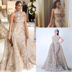 Sequined Appliques Mermaid Overskirt Evening Dresses 2018 Yousef Aljasmi Dubai Arabic High Neck Plus Size Occasion Prom Party Dress Prom Dress with Sleeve Lace Evening Dress Mermaid Prom Gowns Online with $189.72/Piece on Readygogo's Store   DHgate.com