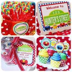 Sesame Street Party Printables Elmo Party by AmandasPartiesToGo Sesame Street Party, Sesame Street Birthday, Elmo Birthday, Boy Birthday Parties, Birthday Ideas, Birthday Recipes, Birthday Gifts, Mickey Mouse Birthday Decorations, Cookie Monster Party