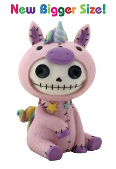 Unie Unicorn Furry Bones Skellies Medium Figurine [8281S] - $13.99 : Mystic Crypt, the most unique, hard to find items at ghoulishly great prices!