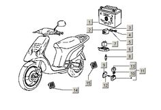 Pezzi Piaggio NTT Accu + Startrelais - EasyParts.it - Negozio online di ricambi e accessori per scooter. Spedizione in tutta Europa.