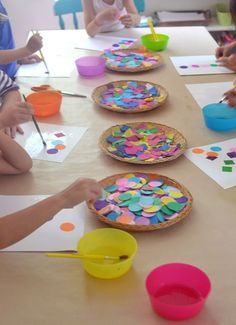 Easy shapes collage art and math activity