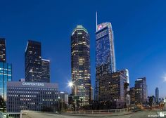 Wilshire Grand Center (A.C. Martin Partners: Los Angeles, California)  Set to be the tallest building in the Western U.S. upon its official opening in the first half of 2017, this 73-story, 1,100-foot-tall mixed-use tower