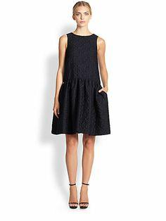 Oscar de la Renta - Drop-Waist Matelassé Dress - Saks.com