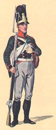 Bavaria: Schütze 2nd Light Infantry Battalion Dietfurth: 1806