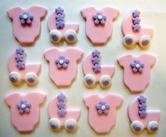 Fondant Cupcake Toppers - Baby Girl
