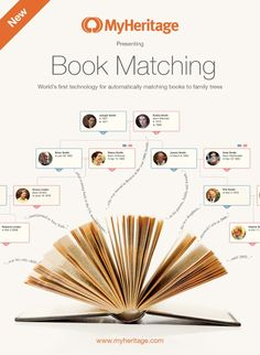 MyHeritage Launches Book Matching MyHeritage announced the launch of their revolutionary technology that will help individuals locate information about their ancestors that is found in books. It is called Book Matching. It automatically looks at the Genealogy Websites, Genealogy Forms, Genealogy Research, Family Genealogy, All Family, Family Trees, Family Roots, Family History Book, History Books