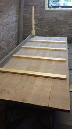 Bouwtekening tafel steigerhout diy wood and woods for Tafelblad steigerhout maken