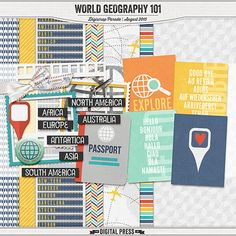 Free Mini Kit from The Digital Press {DigiScrap Parade August 2015: World Geography 101}