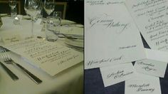 Wedding Menu and Place Cards Wedding Calligraphy, Wedding Menu, Place Cards, Personalized Items, Diy Wedding Calligraphy