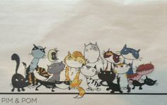 Series of cats, including a black one, by Fiep Westendorp.