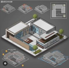 Architecture Student, Architect Design, Mansions, House Styles, Instagram, Presentation Techniques, Home Decor, Spaces, Landscaping