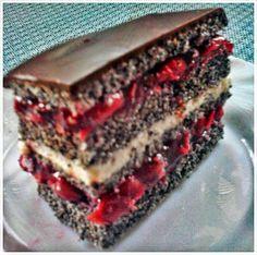 Meggyes- mákos-csokis-süti -paleo                  A receptet köszönöm szépen Anitának az eredeti recept  itt          Hozzávalók:... Evo, Healthy Recipes, Healthy Foods, Food And Drink, Poppy, Cooking, Ethnic Recipes, Minden, Desserts