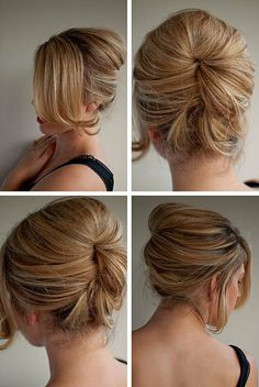 hair - hair romance: The relaxed beehive Pretty Hairstyles, Easy Hairstyles, Wedding Hairstyles, Hairstyle Ideas, Modern Hairstyles, Ladies Hairstyles, Hairstyle Tutorials, Style Hairstyle, Wedding Updo