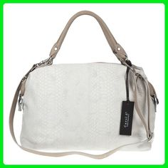 CAROL J. Italian Made White Snake Embossed Large Leather Satchel Bag -  Satchels ( Amazon Partner-Link) c5aa3048cf3d1