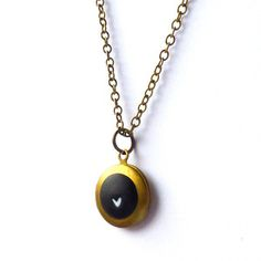 Heart Locket Necklace Black now featured on Fab.