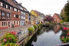 Colmar, France. Colmar's streets (and those of Riquewihr) were inspiration for the makers of Howl's Moving Castle, the Japanese animated film.