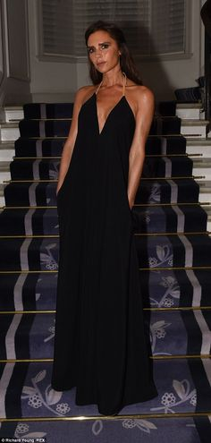 Victoria Beckham in her own design - Harper's Bazaar Women Of The Year Awards in London.  (November 2014)