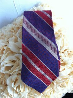 for the Groom: Vintage Purple and Red Necktie