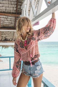 Louise Mikkelsen wearing Spell Designs Aloha Fox Blouse