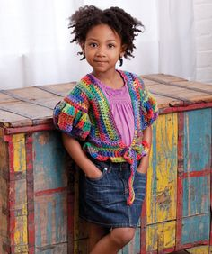 Adorable! Little Girl's Puffy Sleeve Sweater Crochet Pattern