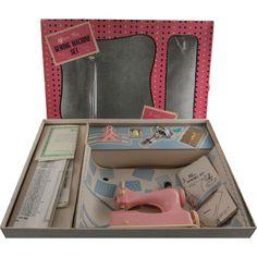 Junior Miss Sewing Machine Set by Hasbro in Original Box found at www.rubylane.com @rubylanecom