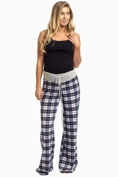 Grab yourself a nice pair of plaid maternity pajama pants to stay cozy in this cold season. A drawstring waistband to accommodate your growing bump and a lightweight, soft material to make sure you stay comfortable throughout the night.