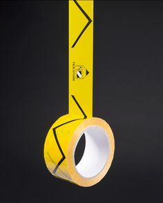 Custom printed, yellow packaging tape for Pen Store in Stockholm. Produced by Avisera