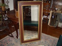 I love mirrors.This is a gesso gilded framed beveled glass piece i've had for awhile.Love it.