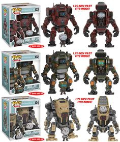 """TitanFall 2 - 6"""" + 2"""" Funko Pops! Coming soon! They look awesome, the 2"""" Pop! Will fit into the 6"""" Pop!"""