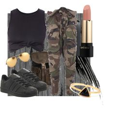 Company by mattress on Polyvore featuring polyvore, fashion, style, Faith Connexion, adidas, Linda Farrow, Lancôme and Urban Decay