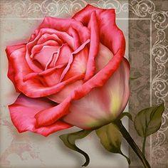Rose Illustration, Desert Rose Plant, Brush Embroidery, Vintage Rosen, Victorian Wallpaper, Floral Artwork, Ribbon Art, Color Pencil Art, Rose Art
