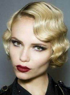 Love this finger wave hairstyle