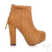 Damske hnede kotnikove polobotky #boots #shoes