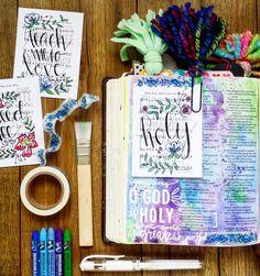 Bible Journaling Hymn Art Psalm 77 Holy, Holy, Holy Growing Meadows Tai Bender