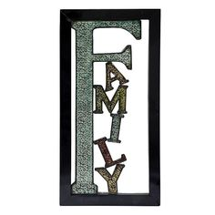 ''Family'' Metal Wall Decor, Multicolor