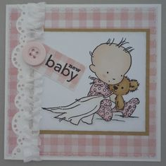 Baby girl card; stamp from Lili of the Valley