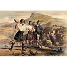 McIans Highlanders at Home 1900 Throwing the stone Canvas Art - Robert R McIan (18 x 24)