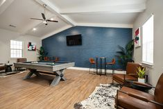 Grab your friends for an afternoon game of pool in our Game Room. Pet Friendly Apartments, Game Room, Floor Plans, Flooring, Friends, Table, Furniture, Home Decor, Amigos